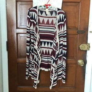 Tribal pattern cardigan